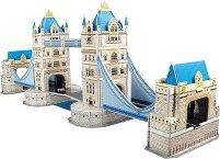 """Тауър Бридж - 3D пъзел от колекцията """"Архитектурни забележителности"""" - пъзел"""