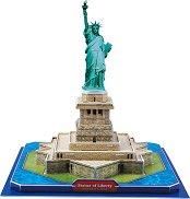"""Статуята на свободата - 3D пъзел от колекцията """"Архитектурни забележителности"""" -"""