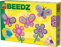 Мозайка с мъниста - Цветя и пеперуди - Творчески комплект - играчка