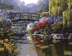 Рисуване по номера - Приказна река - Комплект за картина с размери 50 x 40 cm