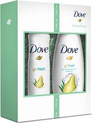Подаръчен комплект - Dove Delicate Beauty - Душ гел и дезодорант -