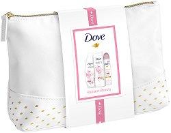 Подаръчен комплект с несесер - Dove Radiant Beauty - Душ гел, лосион за тяло и дезодорант - продукт