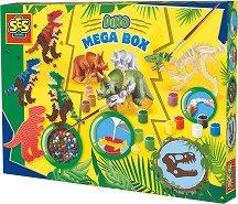 Направи сам с гипс и мъниста - Динозаври - Творчески комплект -