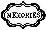 Гумен печат - Memories - Размери 5 x 7 cm - печат