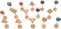 Пътни знаци - Детски комплект от дърво - играчка