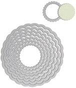 Щанци за машина за изрязване и релеф - Вълнообразни кръгове