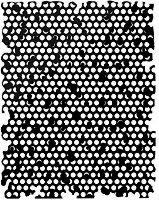 Шаблон - Медена пита - Размери 25 x 20 cm