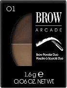 Vivienne Sabo Brow Arcade Brow Powder Duo - Палитра с два цвята сенки за вежди и четка -