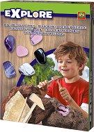 """Разкопки - Скъпоценни камъни - Образователен комплект от серията """"Откривател"""" - играчка"""