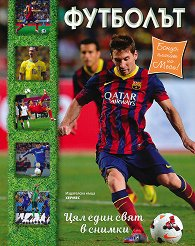 Футболът + плакат на Лео Меси -