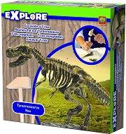 """Разкопки - Тиранозавър - Образователен комплект от серията """"Откривател"""" - образователен комплект"""