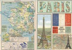 Декупажна хартия - Париж - Размери 50 x 35 cm