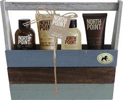 Raphael Rosalee North Point White Musk Men No.7 - Подаръчен комплект с козметика за тяло за мъже с бял мускус -