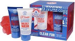 Grace Cole Clean Fun - Подаръчен комплект с козметика за баня за мъже -