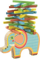 Слон - Дървена игра за баланс -