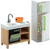Мебели за кухня - Дървено обзавеждане за къща за кукли -