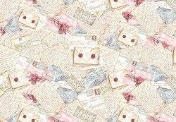 Декупажна хартия - Писма - Размери 50 x 50 cm