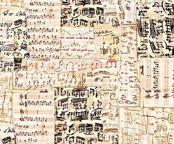 Декупажна хартия - Нотен лист - Размери 50 x 50 cm