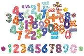 Магнитни цифри и знаци - Детски образователен комплект от дърво - играчка