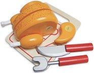 Хранителни продукти за игра - Пиле - В комплект с прибори - играчка