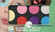 Бои за лице в ярки цветове - Комплект от 6 цвята с гъба и четка за нансяне - боя