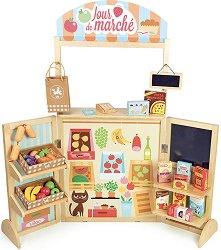 Щанд за хранителни продукти - Дървена играчка -