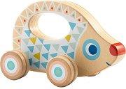 Таралеж - Дървена играчка за бутане -