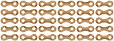 Метални верижни връзки - 30 броя - Резервни части за корабни модели и макети - продукт