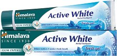 Himalaya Active White Fresh Gel Herbal Toothpaste - Избелваща гел паста за зъби - продукт