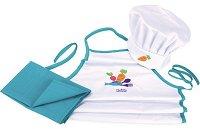 Детска готварска униформа - Малкият готвач - Комплект от престилкa и шапка -