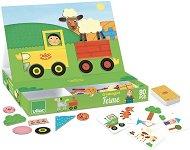 Ферма - Детски дървен пъзел с магнити -