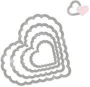 Щанци за машина за изрязване и релеф - Вълнообразни сърца