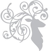 Щанца за машина за изрязване и релеф - Елегантен елен