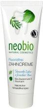 Neobio Fluoride-Free Toothpaste - Хомеопатична паста за зъби с био хамамелис и розмарин -