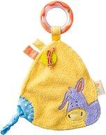 Магаренцето Лаки - Бебешка играчка за гушкане с дрънкалка -