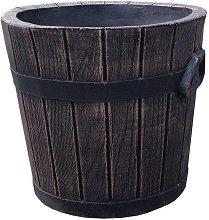 Кръгла саксия - Дървена кофа