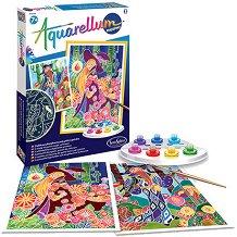 Създай сам фосфоресцираща картина - Магьосници - Творчески комплект за рисуване - играчка