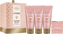 "Scottish Fine Soaps La Paloma Luxurious Gift Set - Луксозен подаръчен комплект с козметика за тяло от серията ""La Paloma"" - четка"