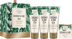 """Scottish Fine Soaps Coconut & Lime Luxurious Gift Set - Луксозен подаръчен комплект с козметика за тяло от серията """"Coconut & Lime"""" - серум"""
