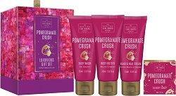 Scottish Fine Soaps Pomegranate Crush Luxurious Gift Set - Луксозен подаръчен комплект с козметика за тяло - продукт