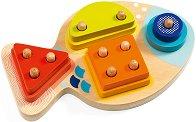 Рибка - Дървена играчка за сортиране -