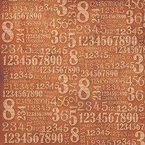 Декупажна хартия - Цифри - Размери 50 x 50 cm