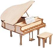 """Пиано със стол - 3D дървен пъзел от серията """"Art & Wood"""" - пъзел"""