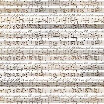 Декупажна хартия - Ноти - Размери 50 x 50 cm
