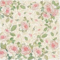 Декупажна хартия - Рози - Размери 50 x 50 cm
