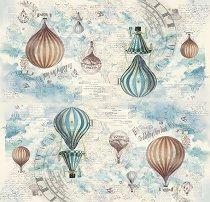 Декупажна хартия - Балони - Размери 50 x 50 cm