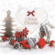 Салфетки за декупаж - Весела Коледа - Пакет от 20 броя