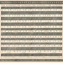 Декупажна хартия - Азбука - Размери 50 x 50 cm