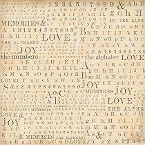 Декупажна хартия - Букви и цифри - Размери 50 x 50 cm