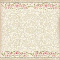 Декупажна хартия - Орнаменти и рози - Размери 50 x 50 cm